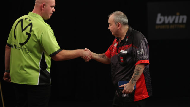 Rivalry between Michael van Gerwen and Phil Taylor rumbles on
