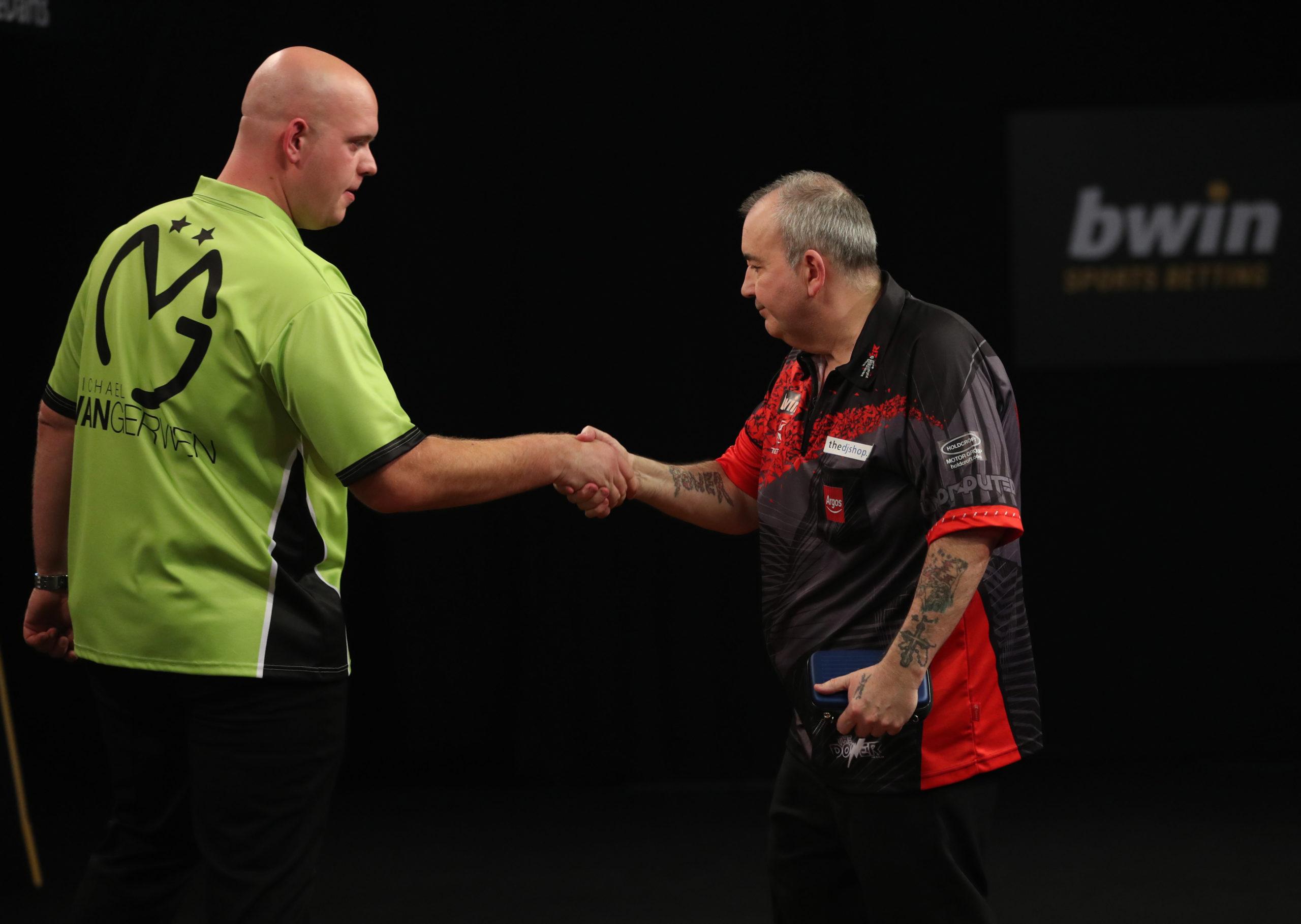 Rivalry between Michael van Gerwen and Phil Taylor rumbles on