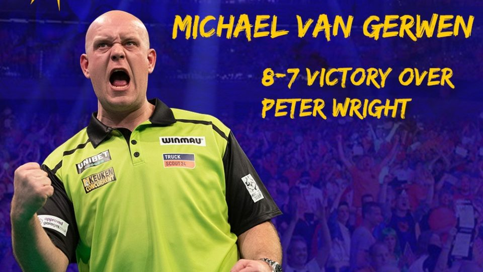 van Gerwen wins day one of PDC Summer Series