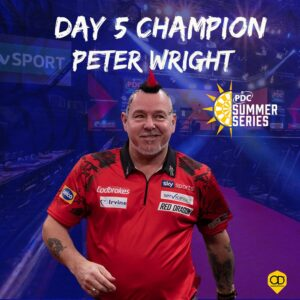 Peter Wright winning day five of the Summer Series