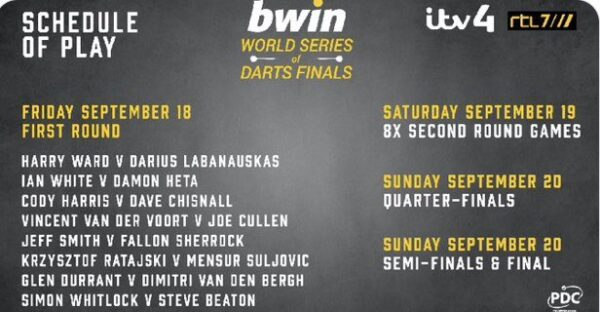 PDC World Series Day 1 Preview
