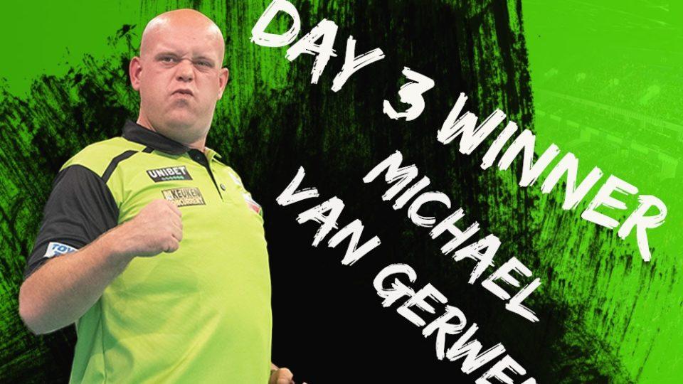 Michael van Gerwen returns to winning wayson day three of the Autumn Series