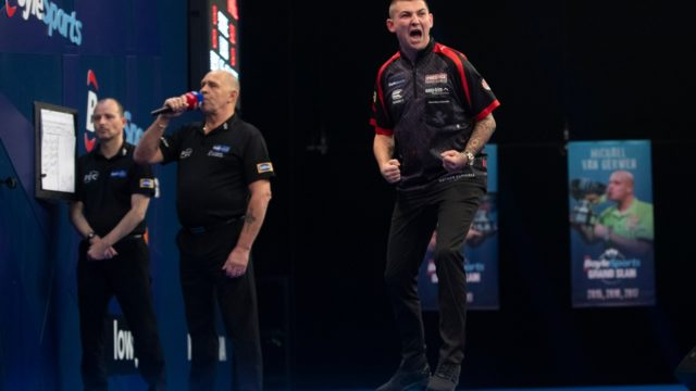 Aspinall ends Price's reign on day six of the Grand Slam of Darts