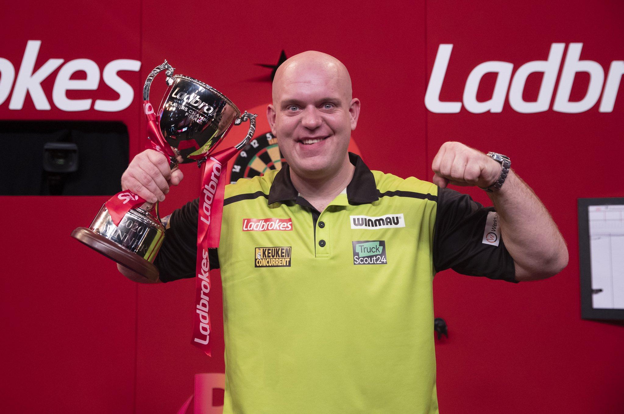 Van Gerwen wins 2020 Players Championship Finals