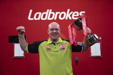 Michael van Gerwen winning the Players Championship Finals