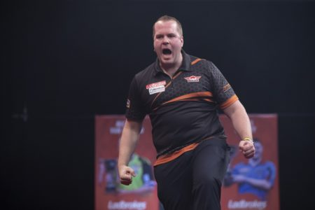 Dirk van Duijvenbode on day two of the Players Championship Finals