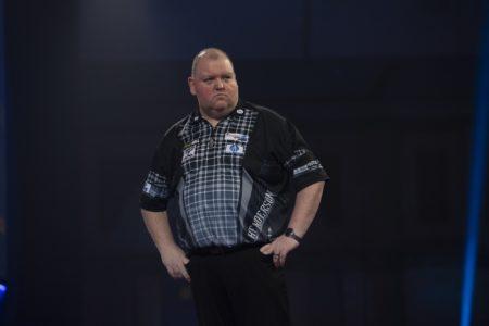 John Henderson playing at the World Darts Championship