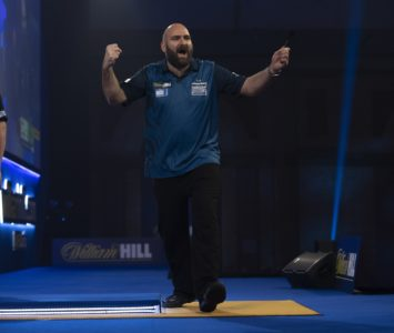 Scott Waites playing at the PDC World Darts Championship