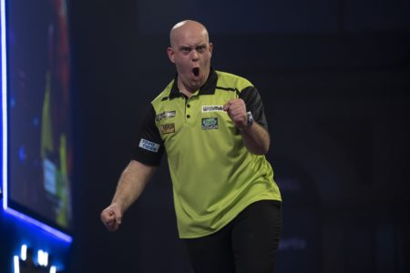 Michael van Gerwen playing a