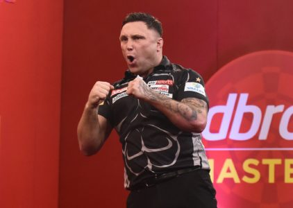 Gerwyn Price celebrating a win