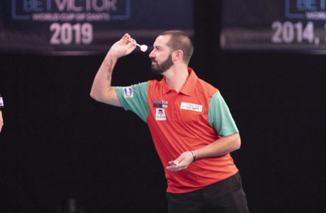 Jose Marques hit the first Q-School nine darter in five years on day one of Stage 1B. Credit: Kais Bodensieck/PDC Europe