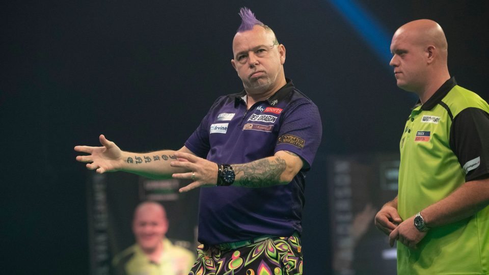 """Peter Wright on Michael van Gerwen """"He won't win a TV tournament this year"""""""