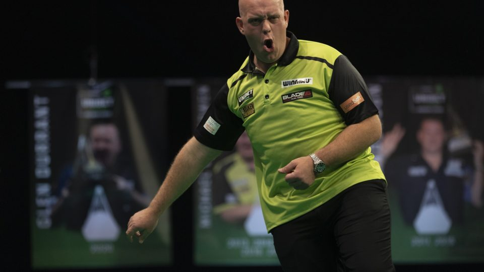 Van Gerwen thrashes Wright to top Premier League table
