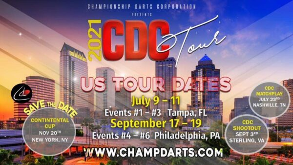 The Championship Darts Corporation have confirmed their U.S. dates