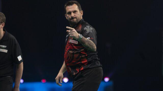 Clayton final qualifier into Premier League Darts Play-Offs