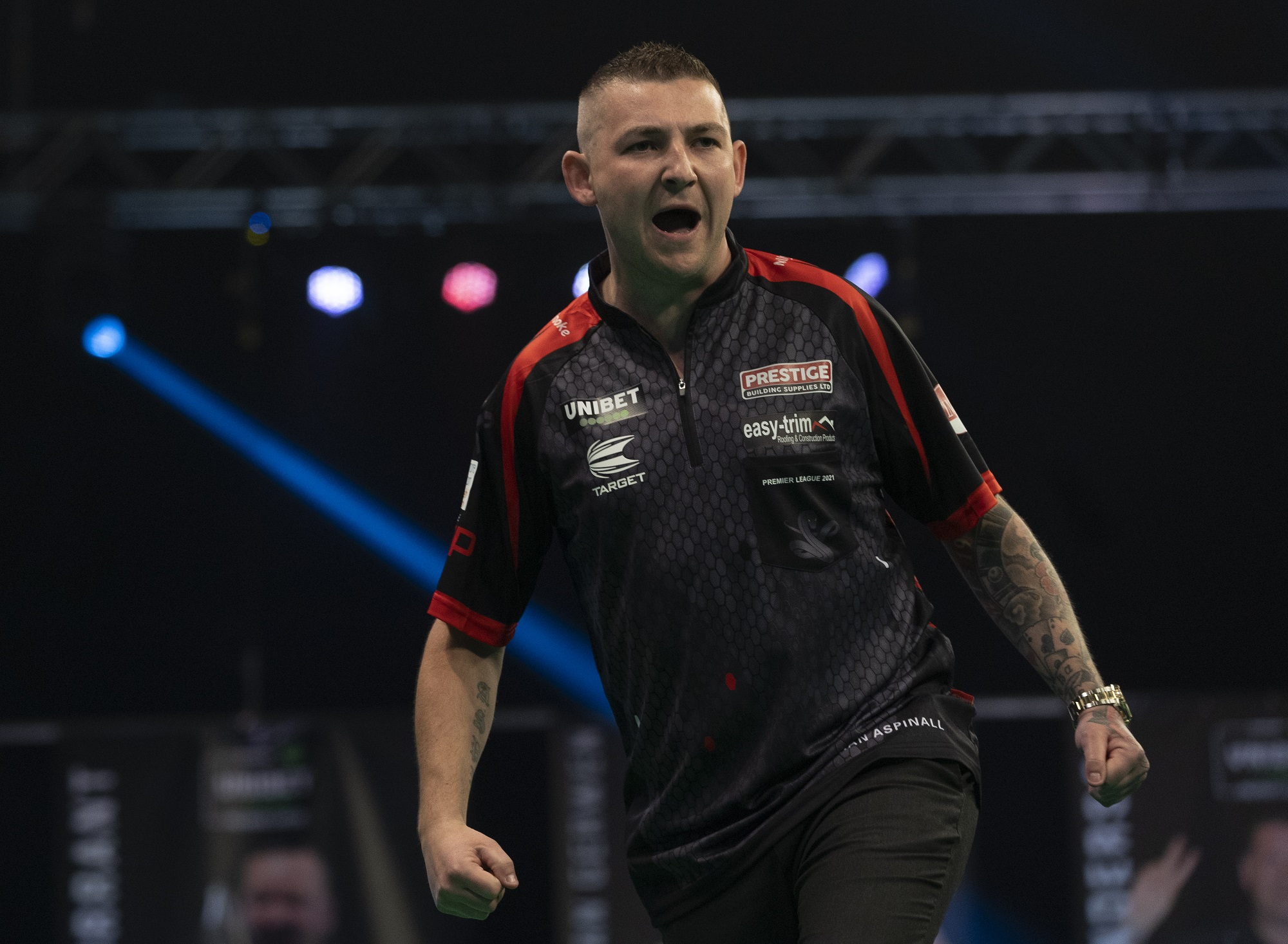 Aspinall thrashes Van Gerwen to top Premier League table
