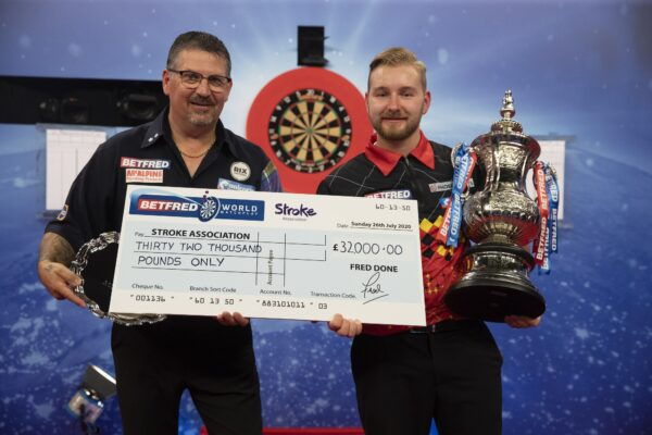 Betfred backing The Stroke Association at the 2021 World Matchplay