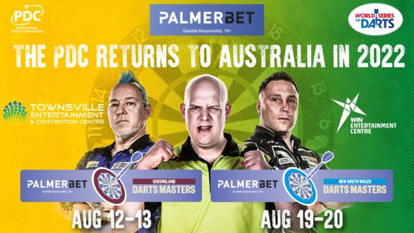 PDC announces PalmerBet as titles sponsors for World Series events in Australia