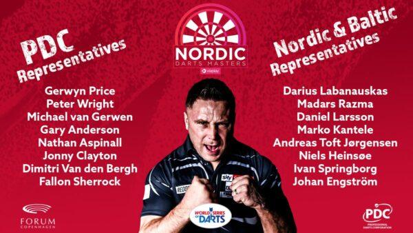 Nordic Darts Masters Lineup Confirmed